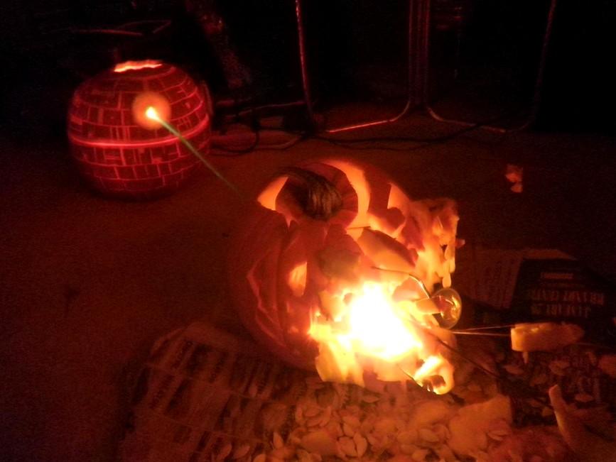 Deatstar Jack-o-lantern pumpkin